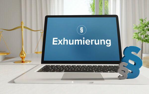 Exhumierung - Eintrag im durch Rentenversicherungsträger
