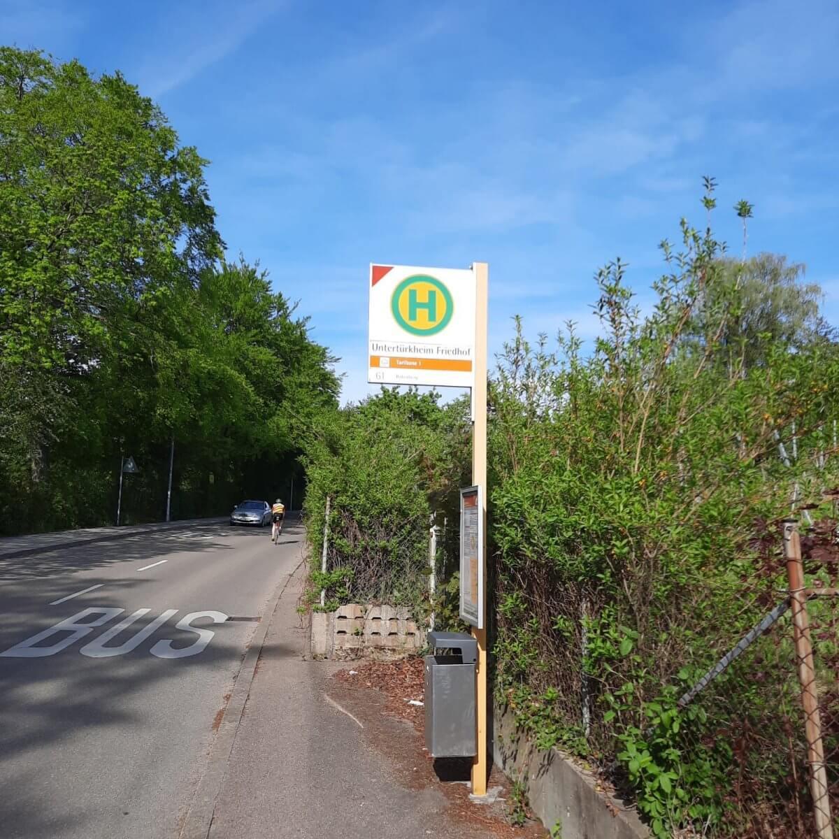 Friedhof Untertürkheim Bushaltestelle