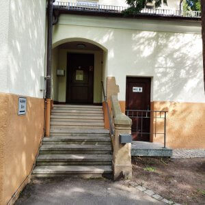 Friedhof Untertürkheim Stuttgart Büro und WC Damen