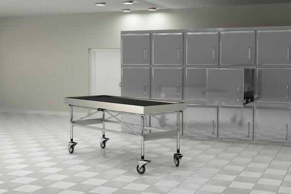 Leichenöffnung im Raum des Bestatters
