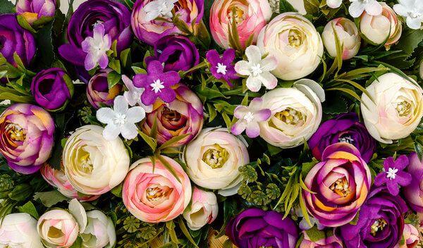 Rosa - Lila - Weiße Rosen zur Beisetzung