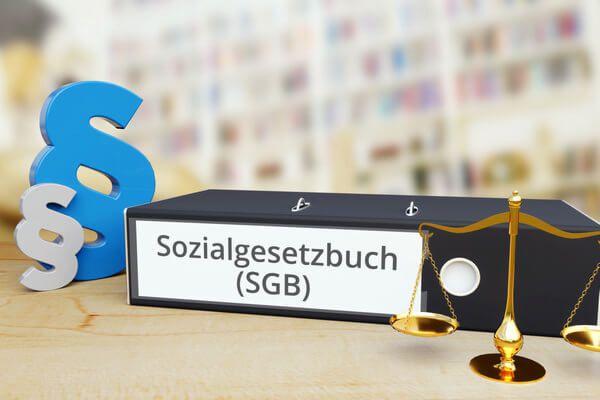 Sozialgesetzbug SGB Ordner mit Paragraph Zeichen