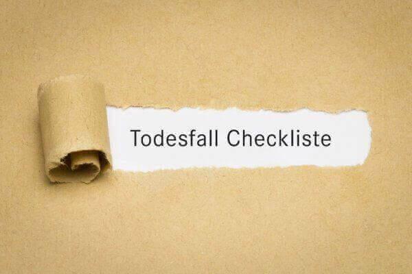 Todesfall Checkliste Stuttgart