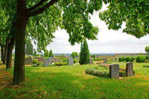 Bestattungsarten Erdbestattung in Stuttgart und Gerlingen - Erdbestattung mit Wahlgrab - Im grünen neben einem Baum beerdigt