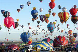 Heißluftballon für die Bestattung